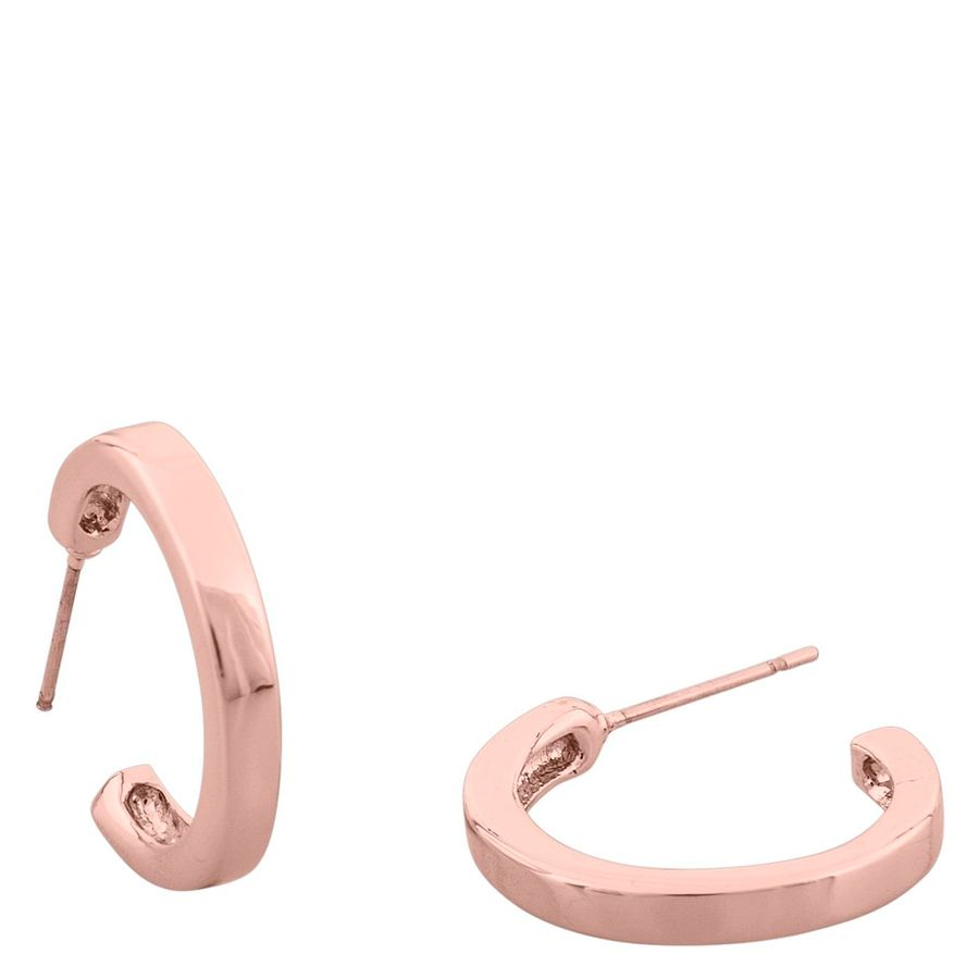 Snö Of Sweden Vertical Oval Earring – Plain Rosé