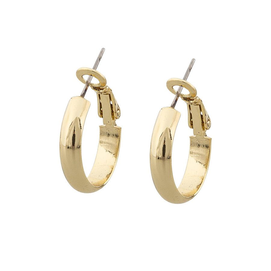 Snö of Sweden Donna Small Ring Earring - Plain Gold