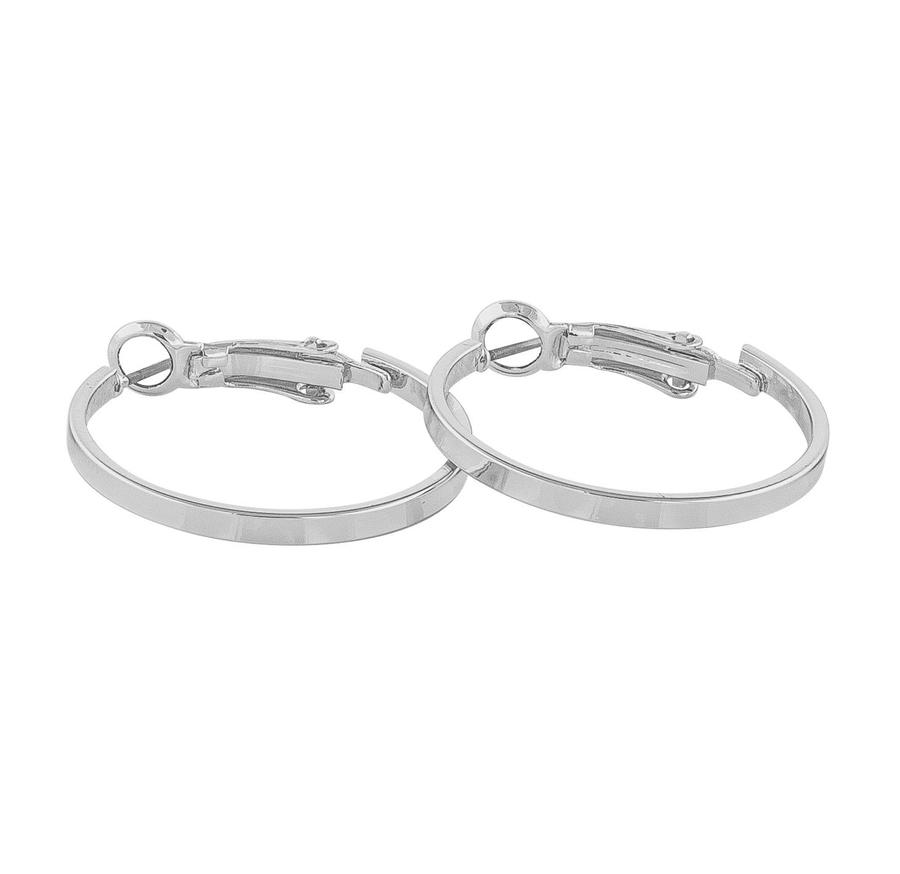 Snö Of Sweden Moe Ring Earring Plain - Silver 25 mm