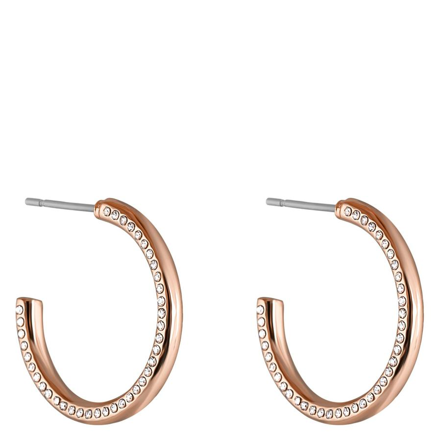 Snö Of Sweden Adara Oval Earring – Rosé/Clear