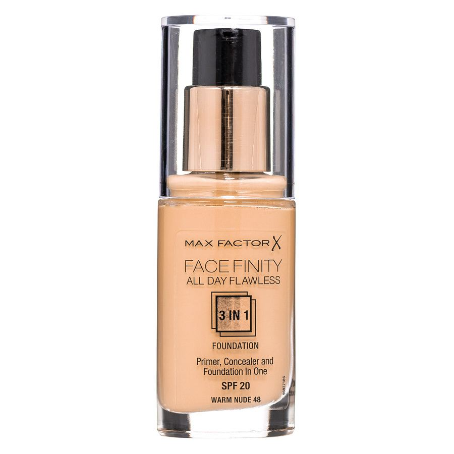 Max Factor Facefinity All Day Flawless 3 in 1 Foundation 30 ml – 48 Warm Nude