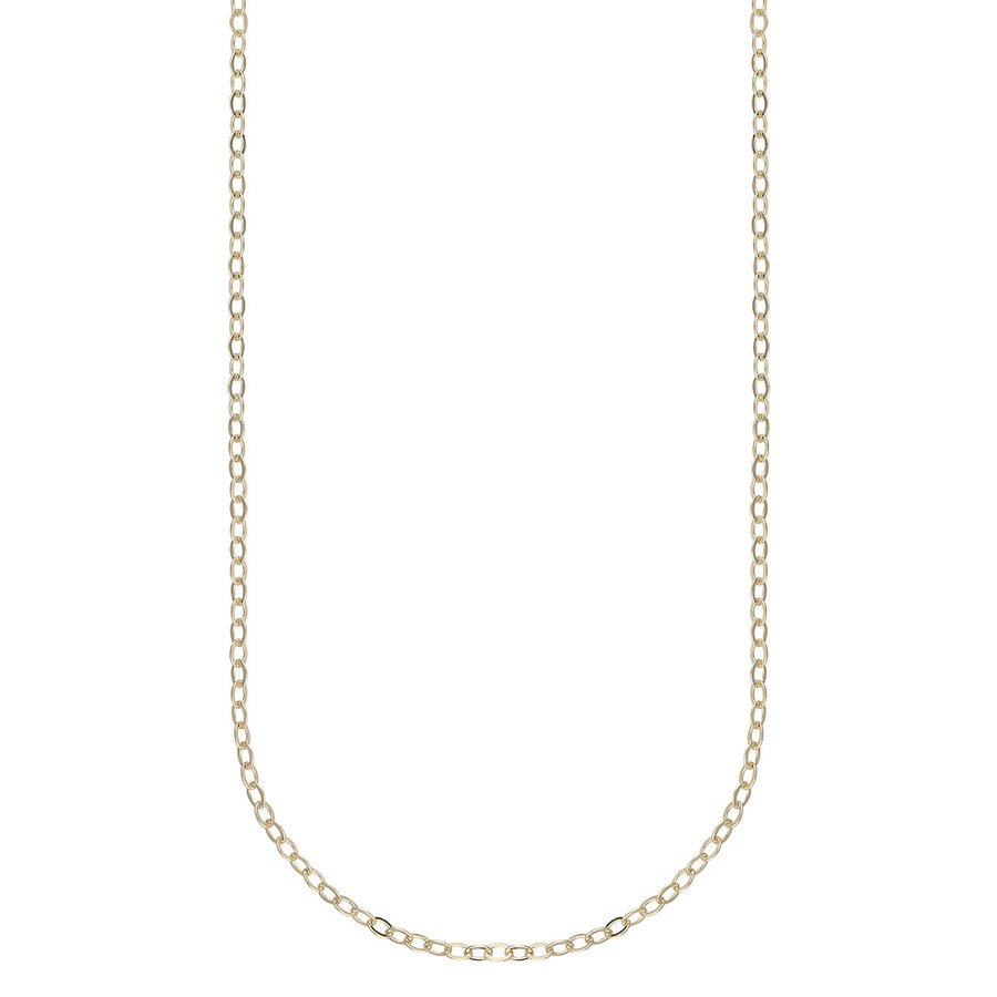Snö Of Sweden Chase True Small Necklace 42 cm – Plain Gold