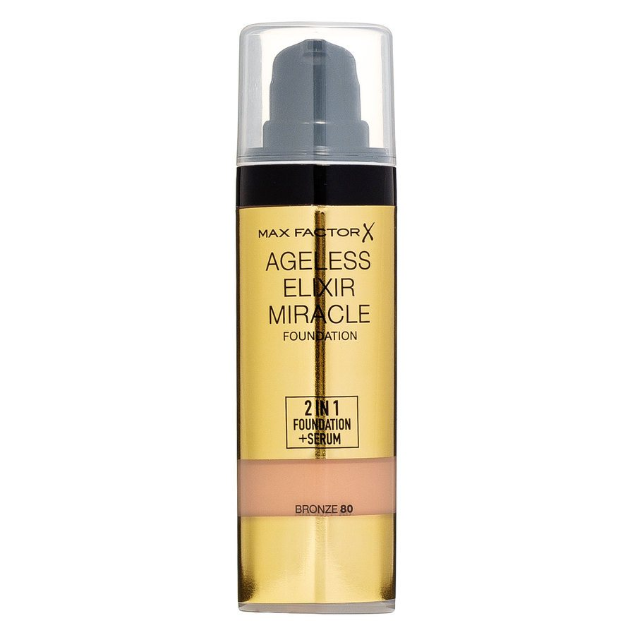 Max Factor Ageless Elixir Miracle 2 In 1 Foundation + Serum – Bronze 080