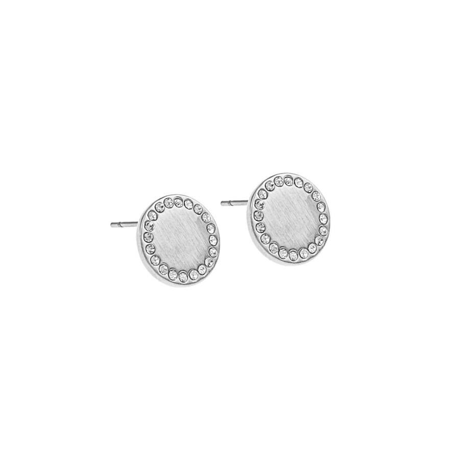 Snö Of Sweden Selma Small Earring – Silver/Clear 12 mm