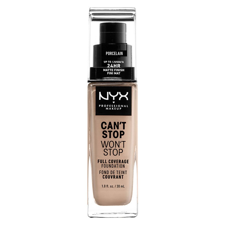 NYX Professional Makeup Can't Stop Won't Stop Full Coverage Foundation Porcelain 30ml