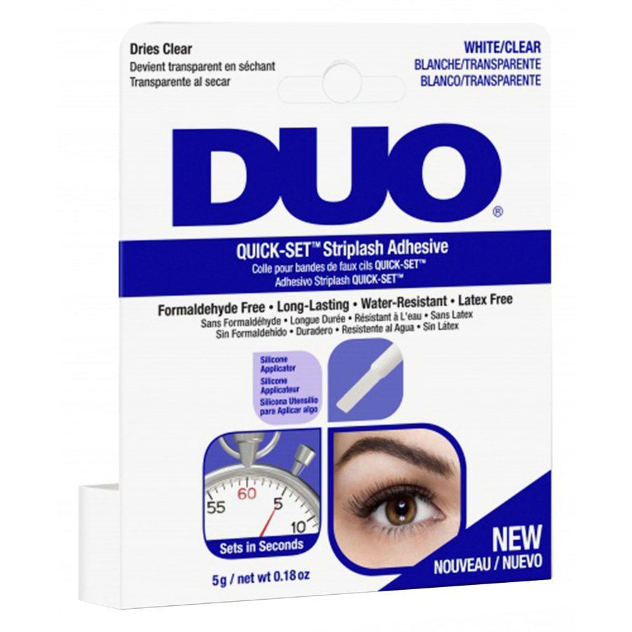 Duo Quick Set Striplash Adhesive Brush Clear 5 g