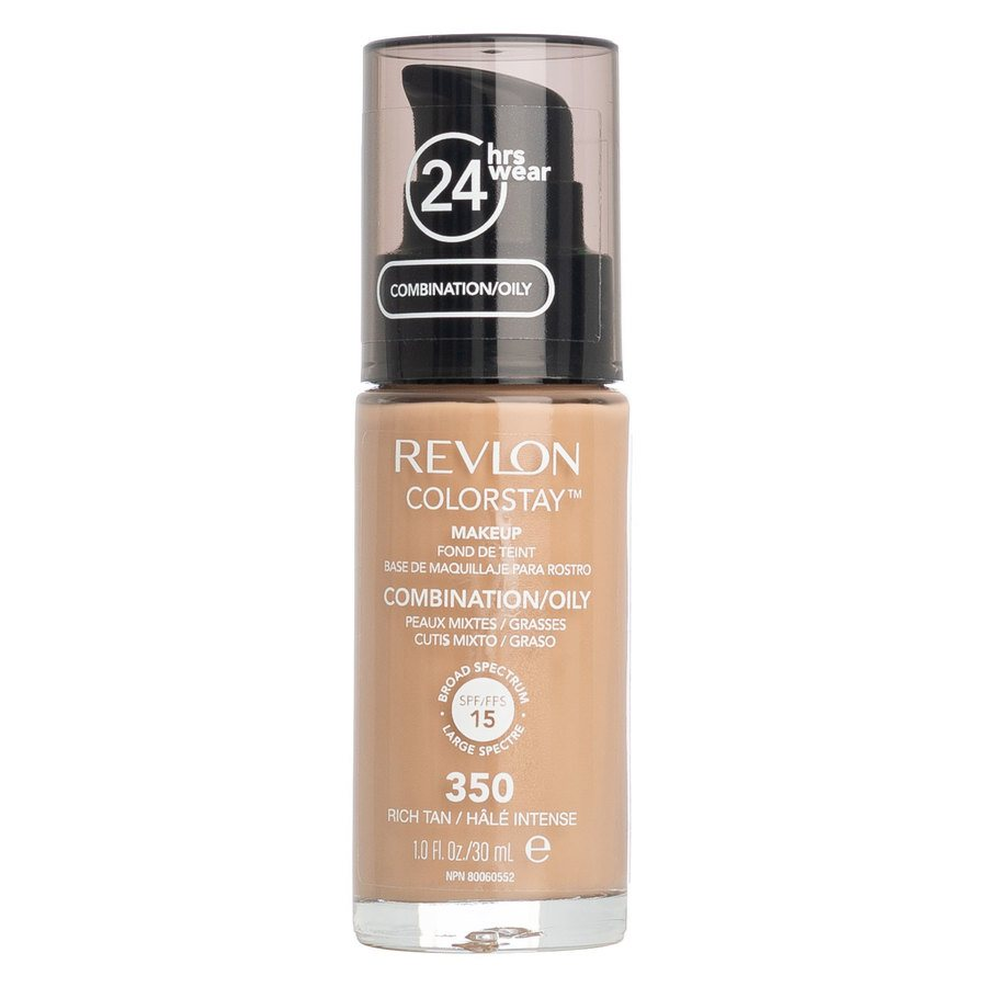 Revlon ColorStay With Pump Makeup Combination/Oily Skin 30 ml - 350 Rich Tan