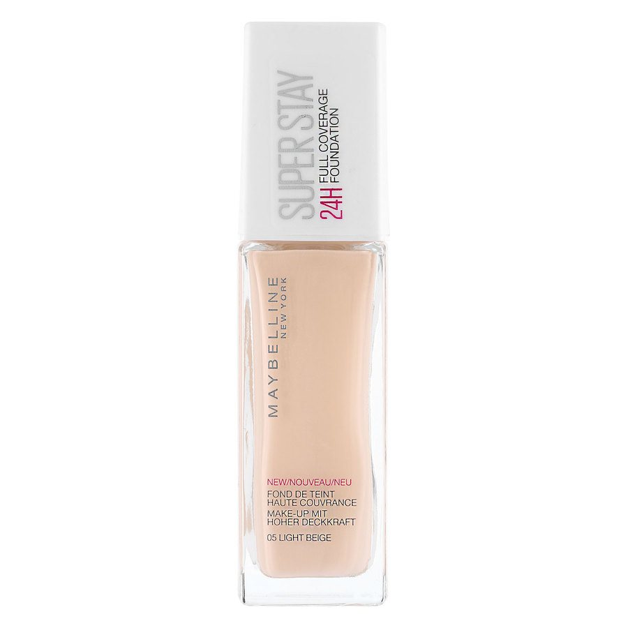 Maybelline Super Stay 24 h Full Coverage Foundation, 05 Light Beige (30 ml)