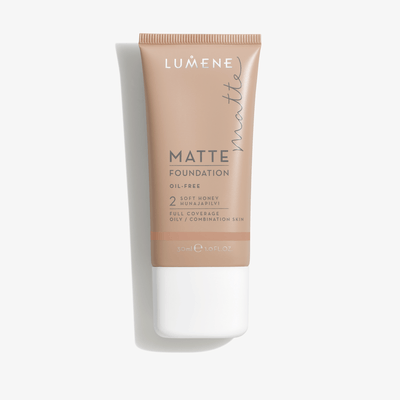 Lumene Matte Foundation 30 ml - 2 Soft Honey