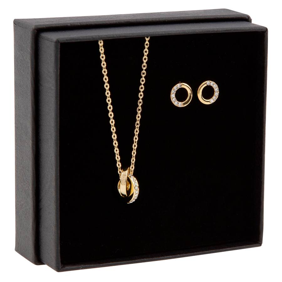 Snö of Sweden Gift Box Connected Necklace Gold/Clear
