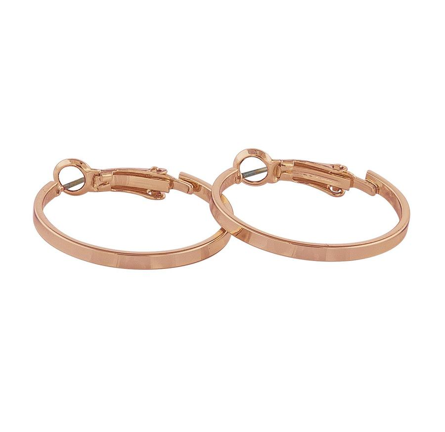 Snö Of Sweden Moe Ring Earring - Plain Rosé 25 mm