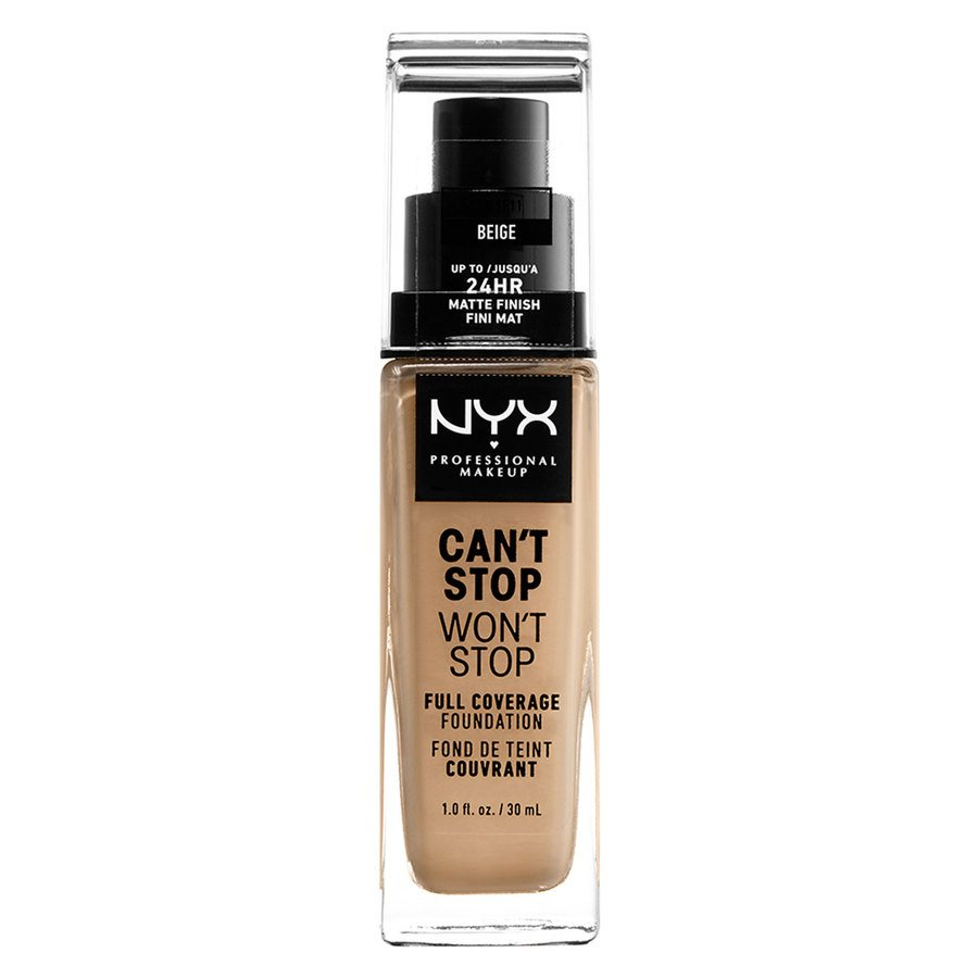 NYX Professional Makeup Can't Stop Won't Stop Full Coverage Foundation Beige 30ml