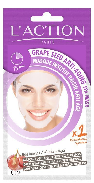 L'Action Paris Grape Seed Anti-Aging Spa Mask 26 g