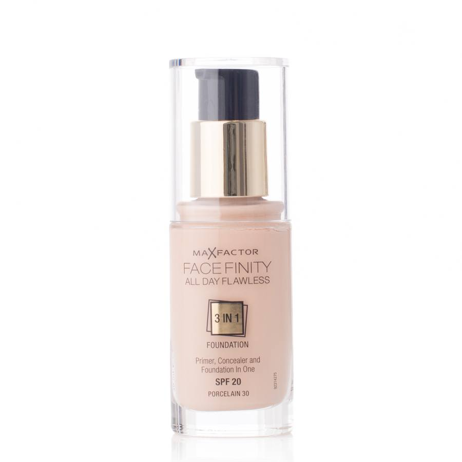Max Factor Facefinity All Day Flawless 3-in-1 Foundation SPF 20 30 ml – 30 Porcelain