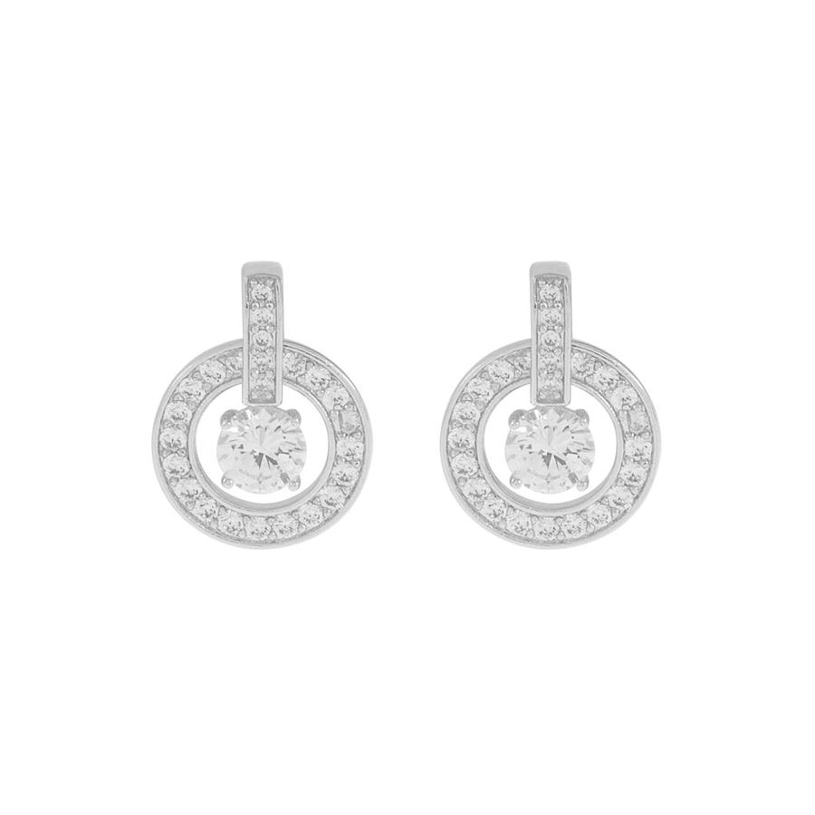 Snö Of Sweden Elaine Earring - Silver/Clear