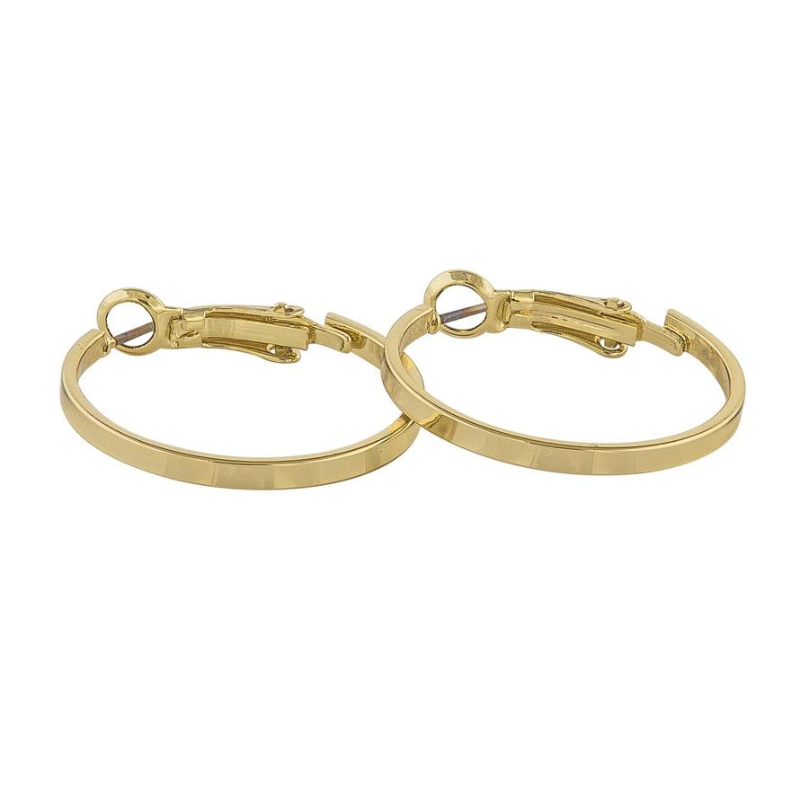 Snö Of Sweden Moe Ring Earring - Plain Gold 25 mm