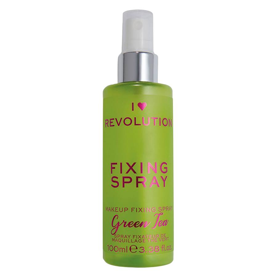Makeup Revolution I Heart Revolution Scented Fixing Spray 100 ml – Green Tea