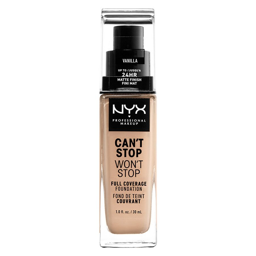 NYX Professional Makeup Can't Stop Won't Stop Full Coverage Foundation Vanilla 30ml
