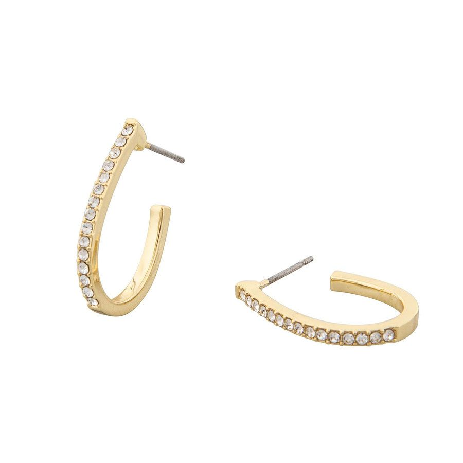 Snö of Sweden Corinne Oval Earring - Gold/Clear