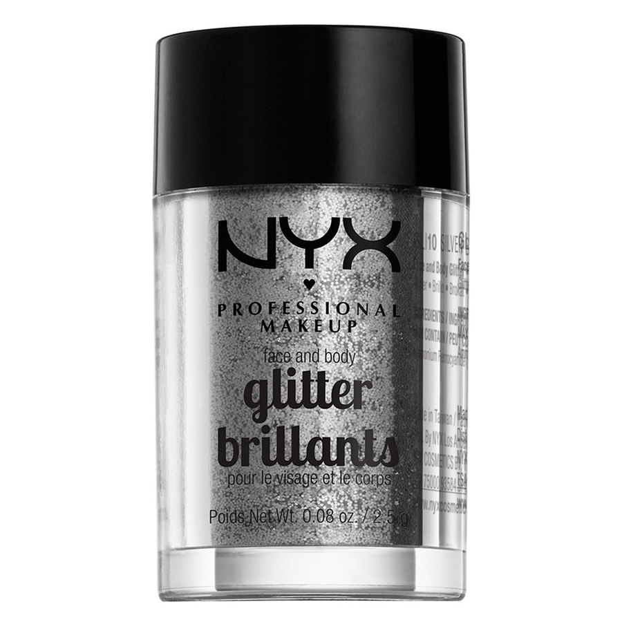 NYX Professional Makeup Face And Body Glitter Brillants 2,5g – Silver GLI10