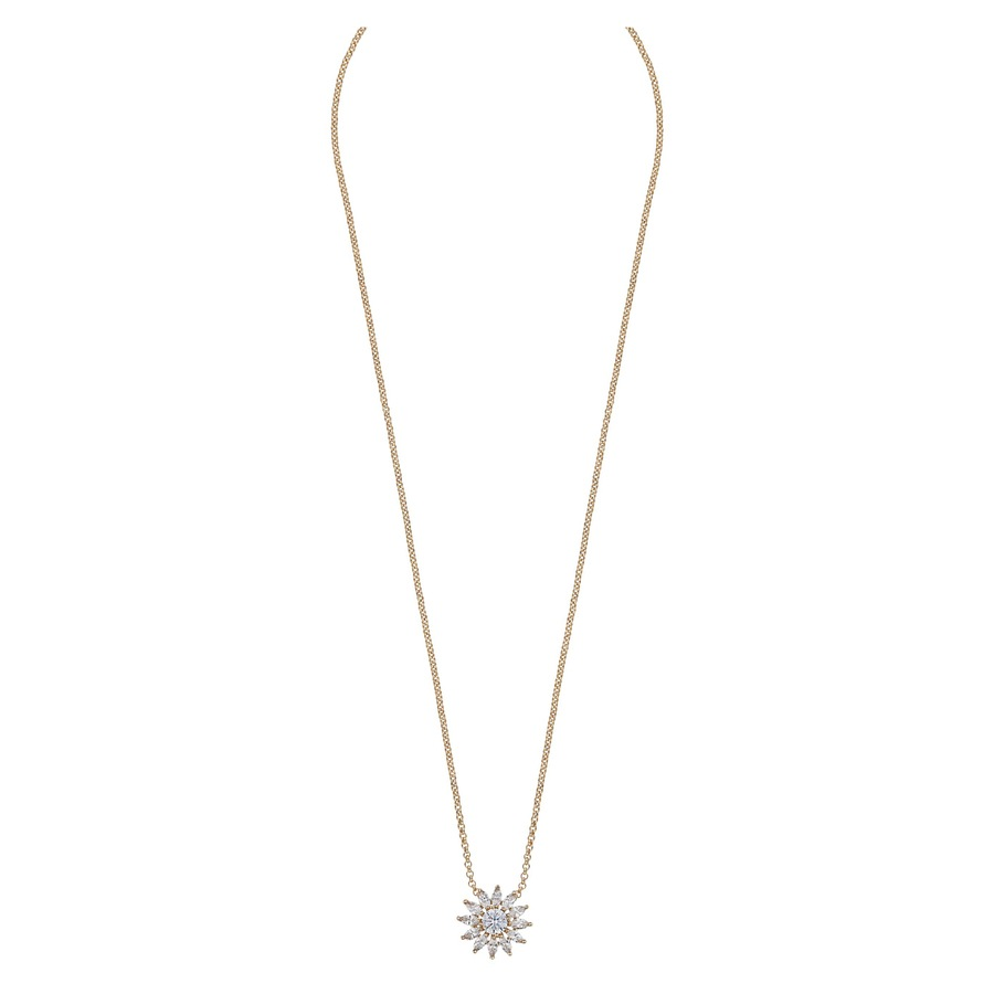 Snö Of Sweden Kathy Small Pendant Necklace 42 cm Gold/Clear