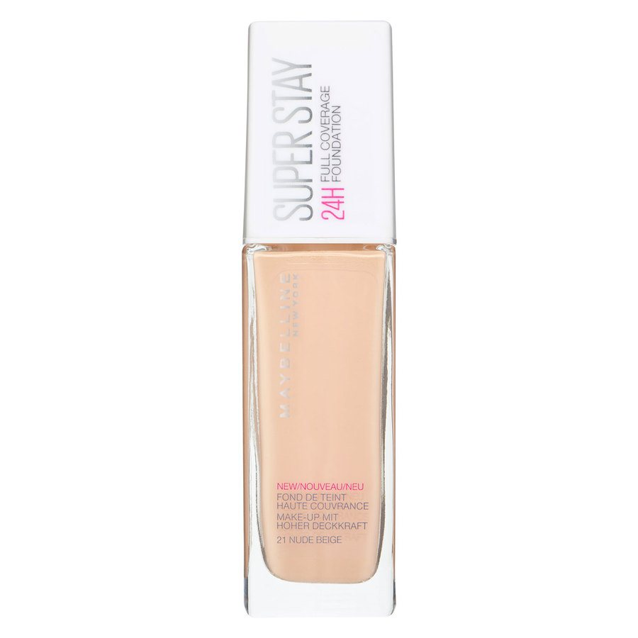 Maybelline Super Stay 24H Full Coverage Foundation, 21 Nude Beige (30 ml)
