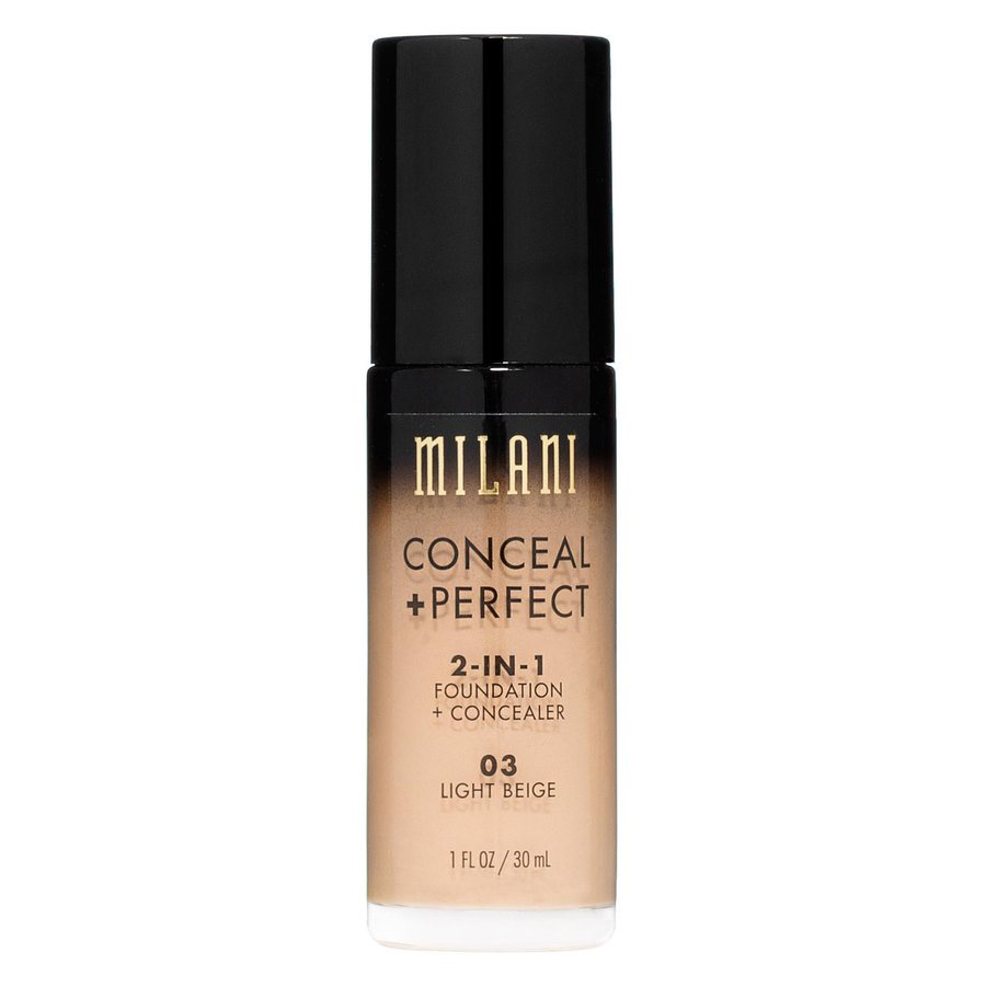 Milani Conceal + Perfect 2-In-1 Foundation + Concealer 30ml – Light Beige