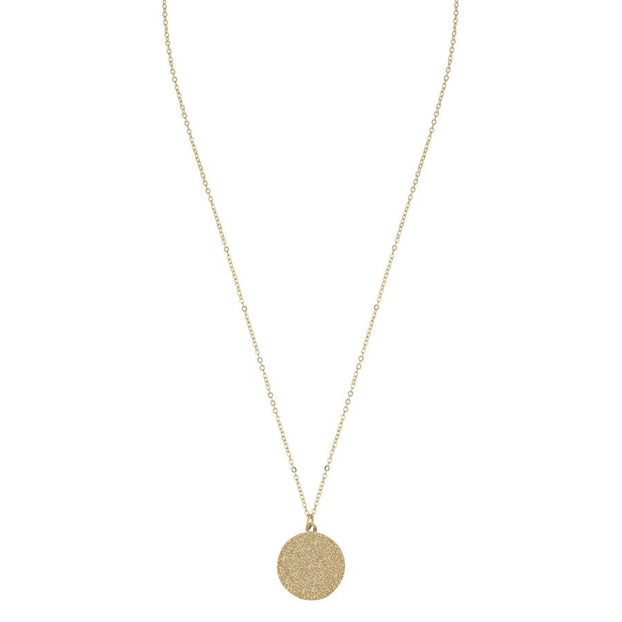 Snö of Sweden Penny Coin Pendant Necklace 42 cm – Plain Gold