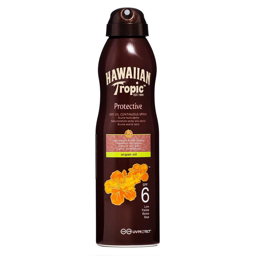 Hawaiian Tropic Protective Dry Oil Continuous Spray SPF 6 177ml