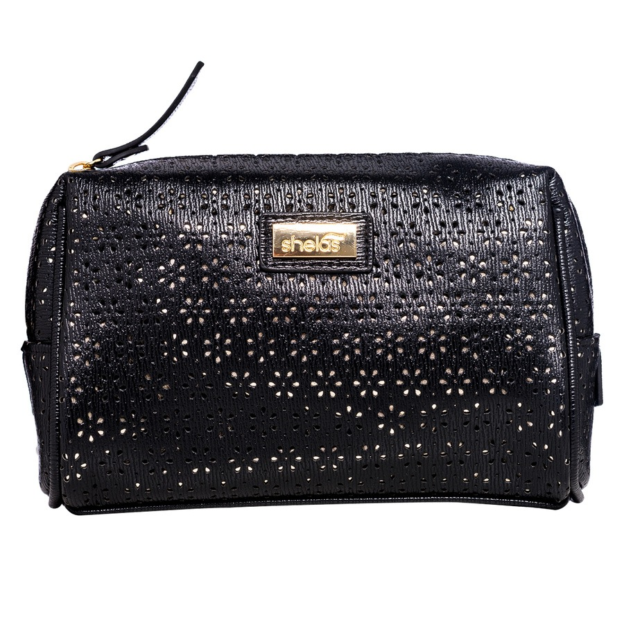 Shela's Toiletry Bag Small Black/Gold