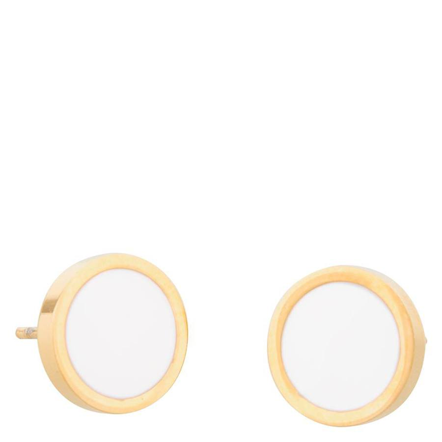 Snö Of Sweden Palermo Earring – Gold/White
