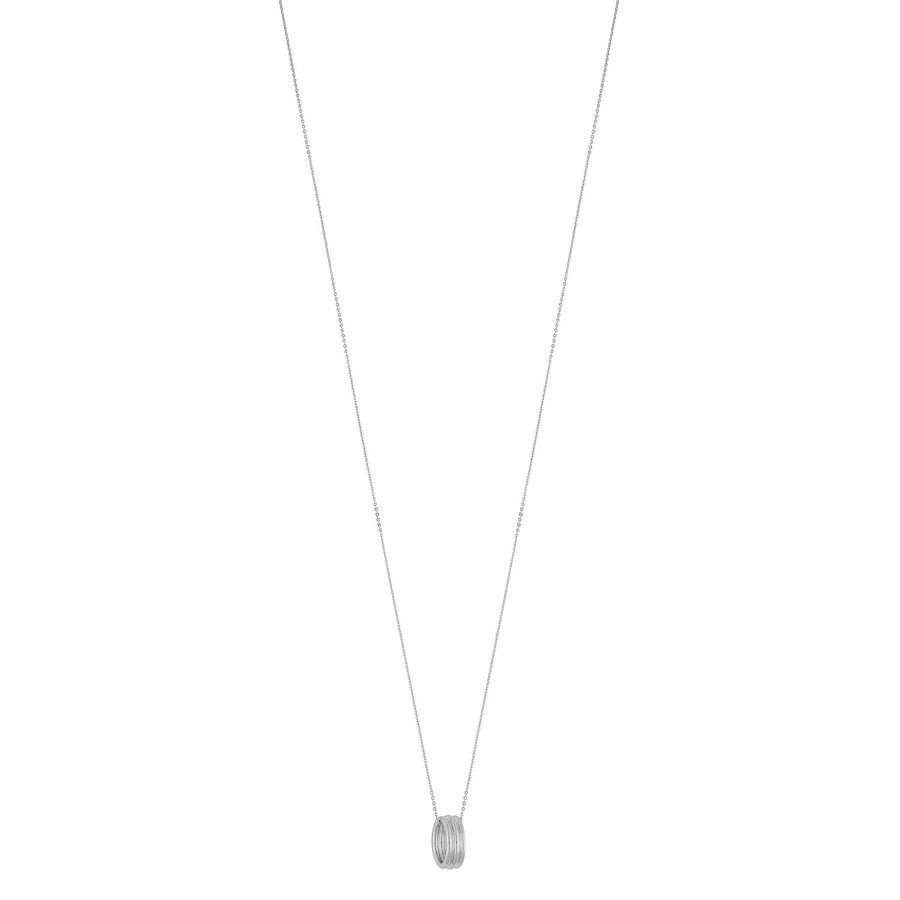 Snö of Sweden Helena Small Pendant Necklace 80 cm – Plain Silver
