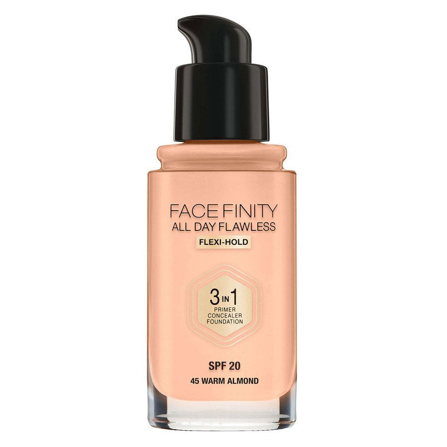 Max Factor Face Finity 3 In 1 Foundation 30 ml 45 Warm Almond