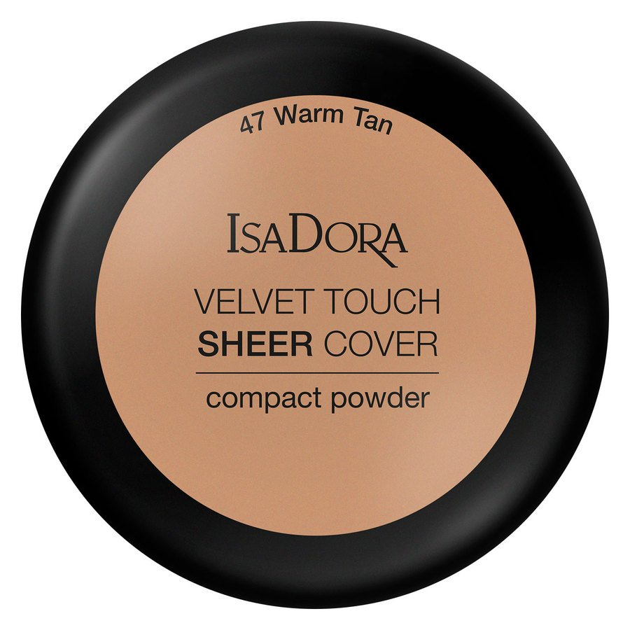 IsaDora Velvet Touch Sheer Cover Compact Powder 7,5 g ─ 47 Warm Tan