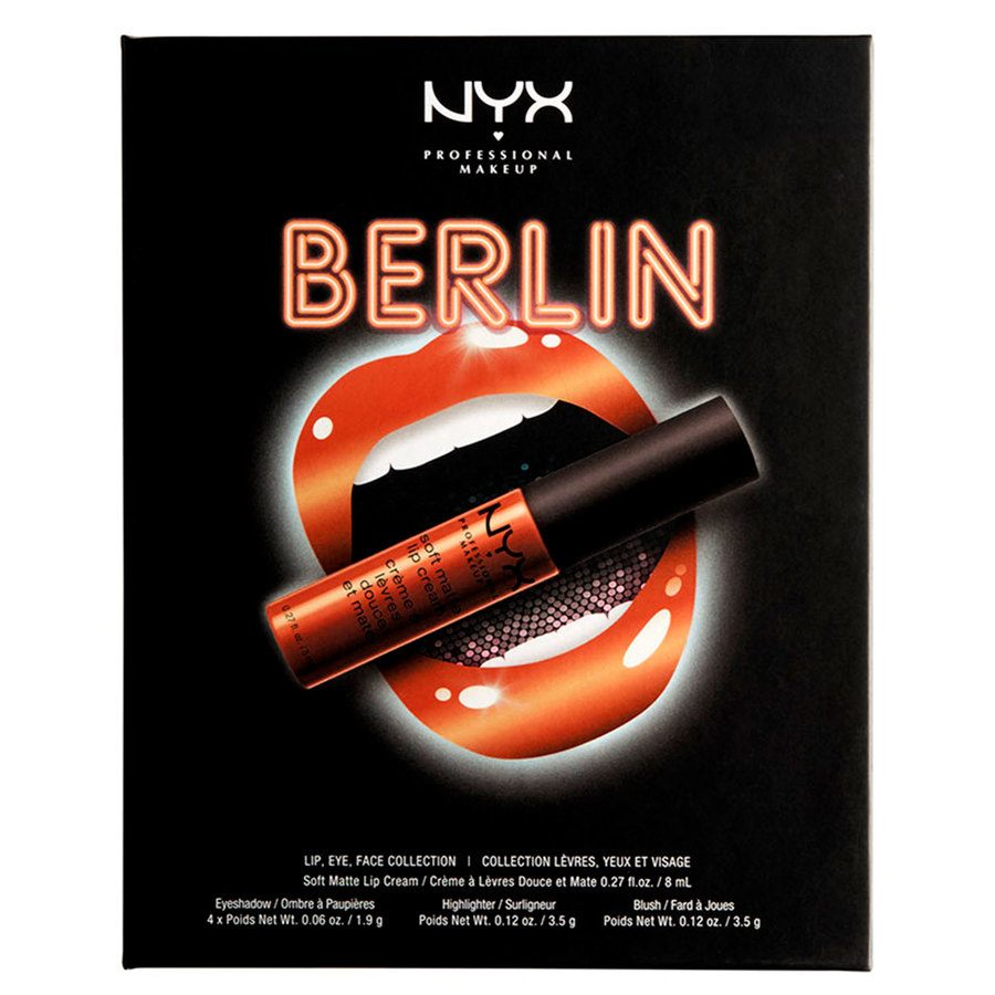 NYX Professional Makeup City Set Lip, Eye & Face Collection - Berlin