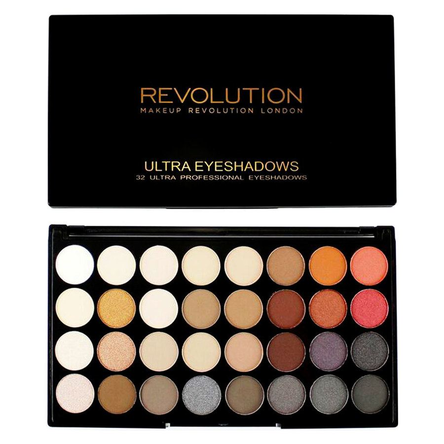 Makeup Revolution Ultra 32 Shade Eyeshadow Palette – Flawless 2