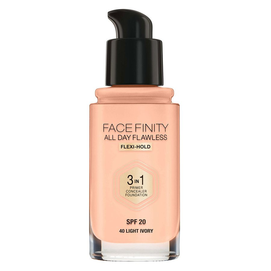 Max Factor Facefinity All Day Flawless 3 in 1 Foundation 30 ml – 40 Light Ivory