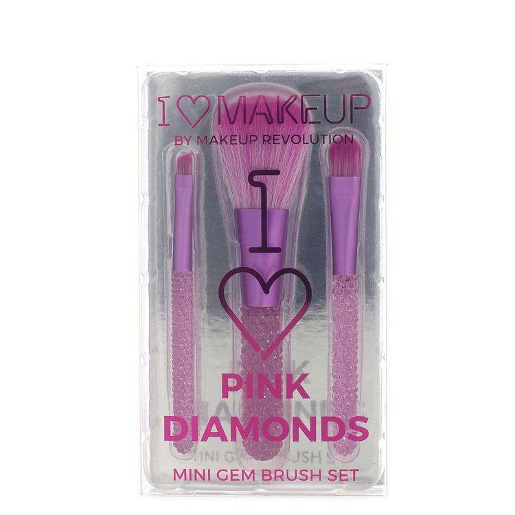 I Heart Makeup Pink Diamonds Mini Gem Brush Set