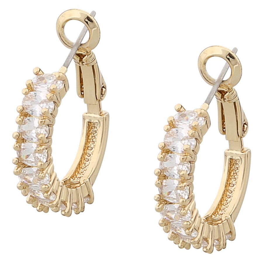Snö of Sweden Kathy Ring Earring Gold/Clear