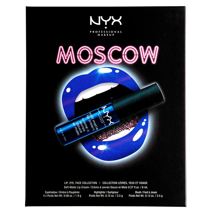 NYX Professional Makeup City Set Lip, Eye & Face Collection - Moscow