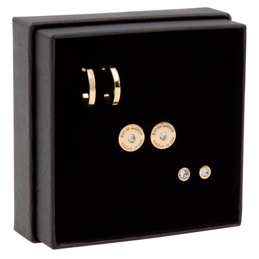 Snö of Sweden Gift Box Set Moe Earring Gold/Clear