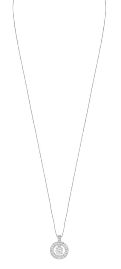 Snö Of Sweden Elaine Pendant Necklace - Silver/Clear