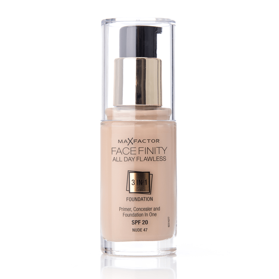 Max Factor Face Finity 3 In 1 Foundation 47 Nude 30ml