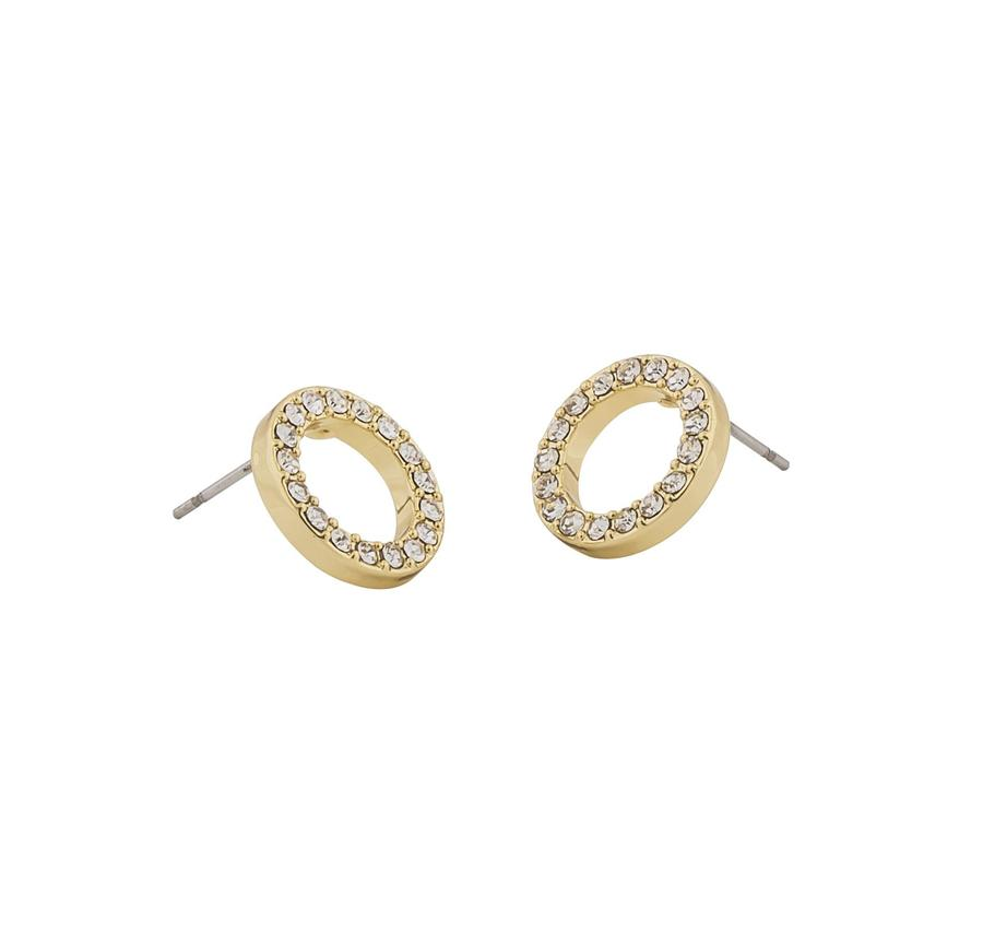 Snö Of Sweden Pi Coin Ring Earring - Gold/Clear