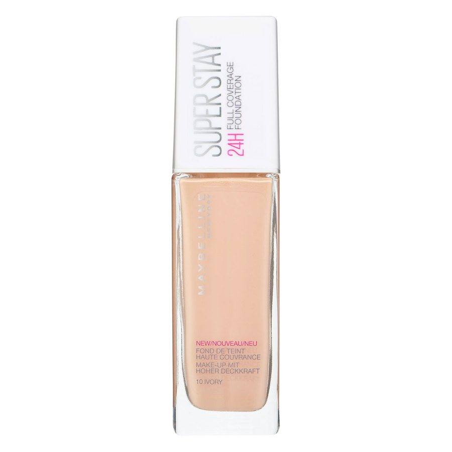 Maybelline Super Stay 24 h Full Coverage Foundation, 10 Ivory (30 ml)