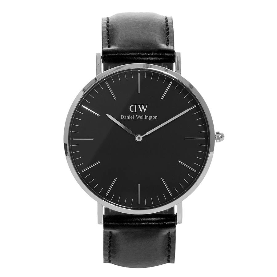 Daniel Wellington Classic Black Sheffield Silver 40 mm DW00100133